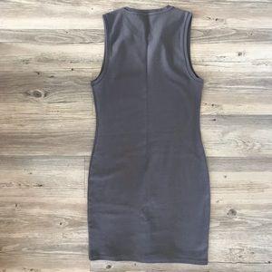 Aritzia Dresses - Bodycon Midi Grey Aritzia Dress Size L